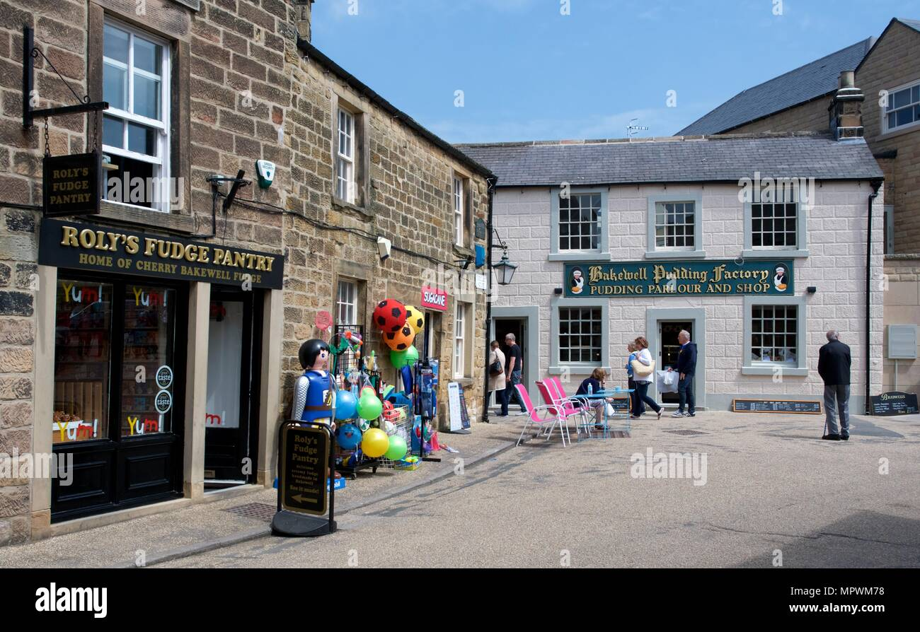 Shops in Bakewell Town Centre - Stock Image
