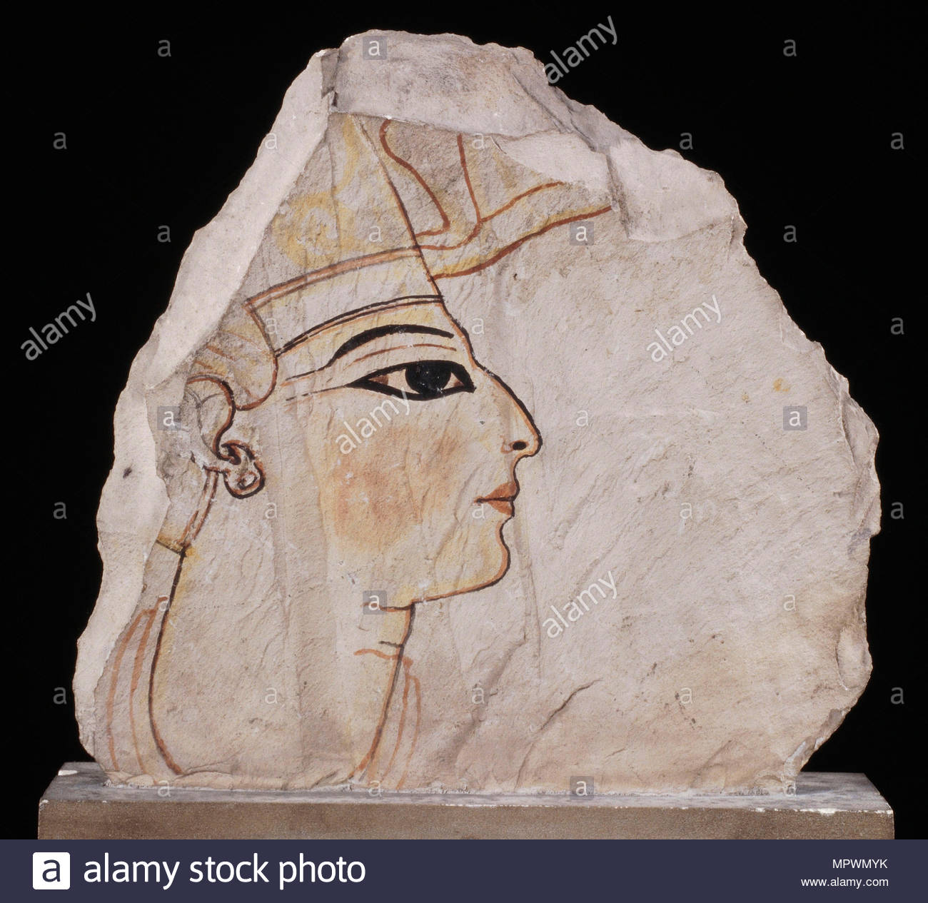 Ostracon with Portrait of a pharaoh (Ramesses VI), ca 1130 BC. - Stock Image