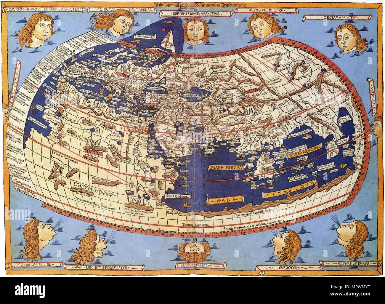 Ptolemy World map, 1467.