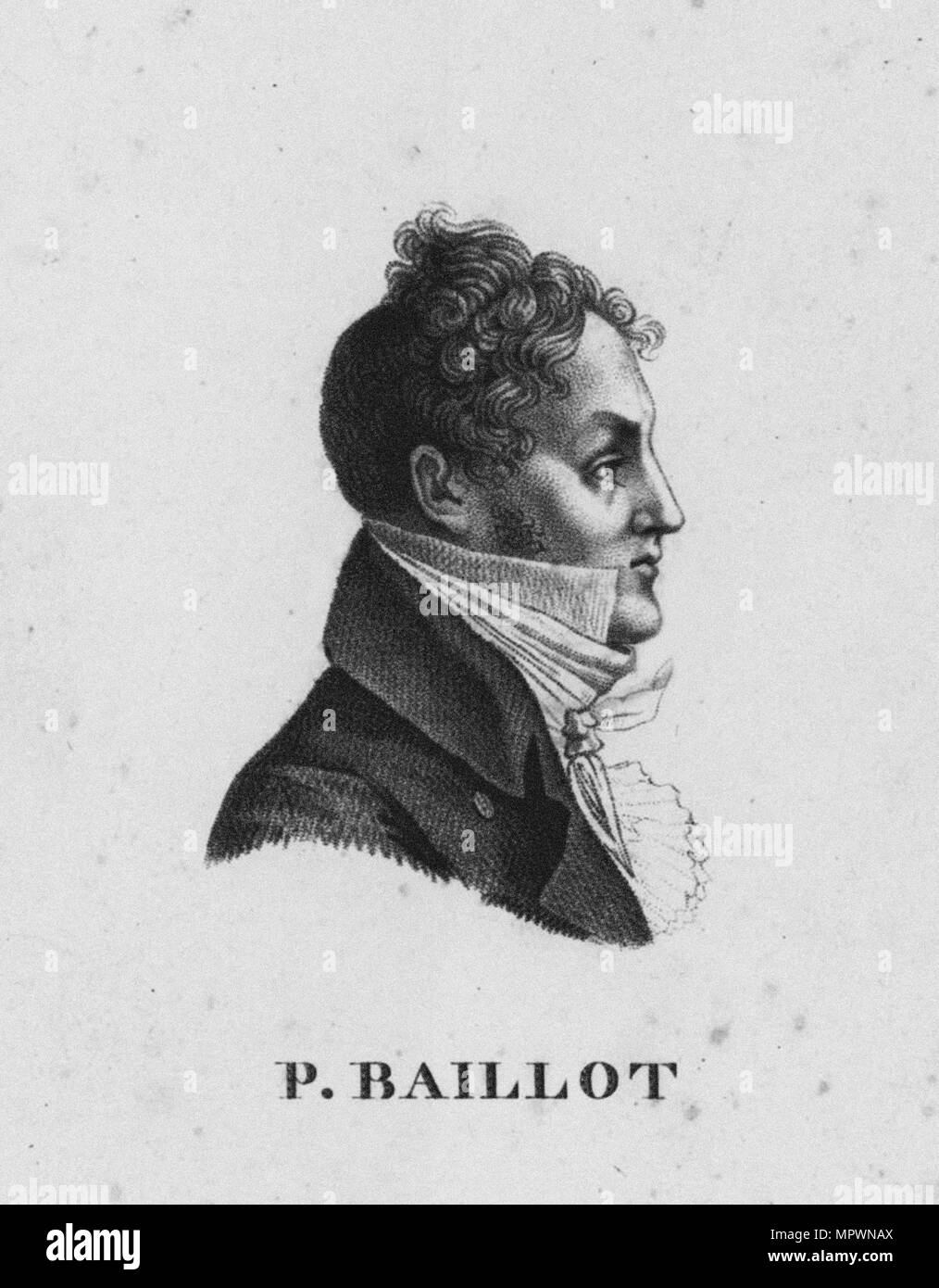 Portrait of the violinist and composer Pierre Baillot (1771-1842), 1800s. - Stock Image