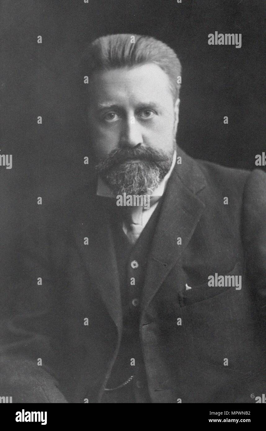 Portrait of the composer Sir Granville Bantock (1868-1946). - Stock Image