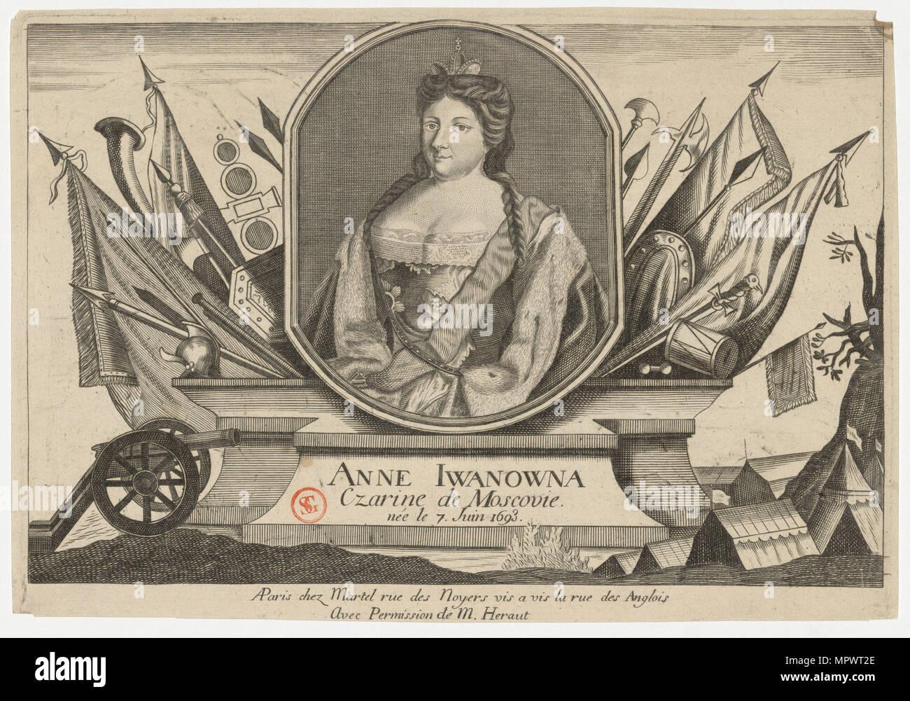 Portrait of Empress Anna Ioannovna (1693-1740), . - Stock Image