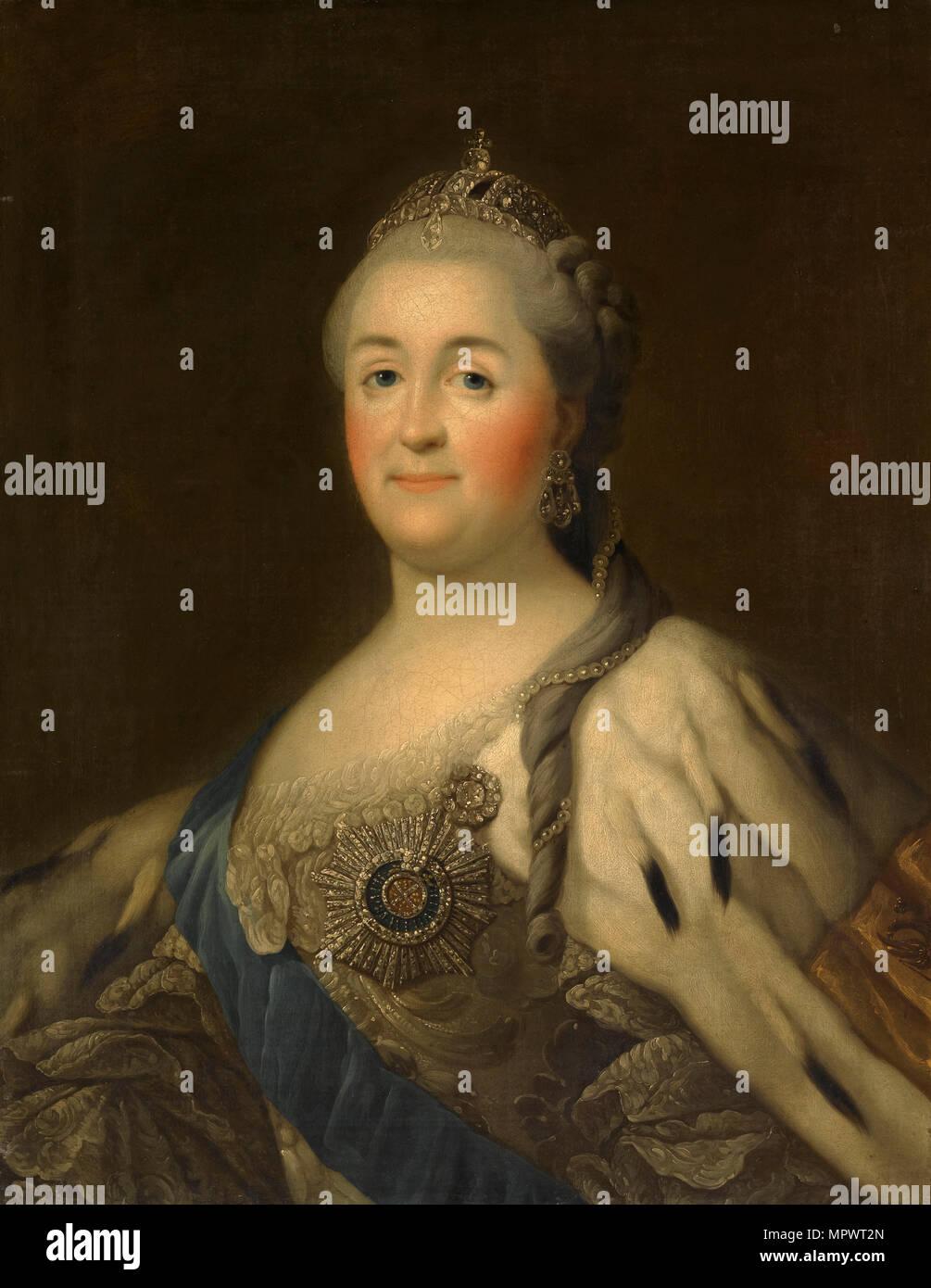 Portrait of Empress Catherine II (1729-1796), . - Stock Image