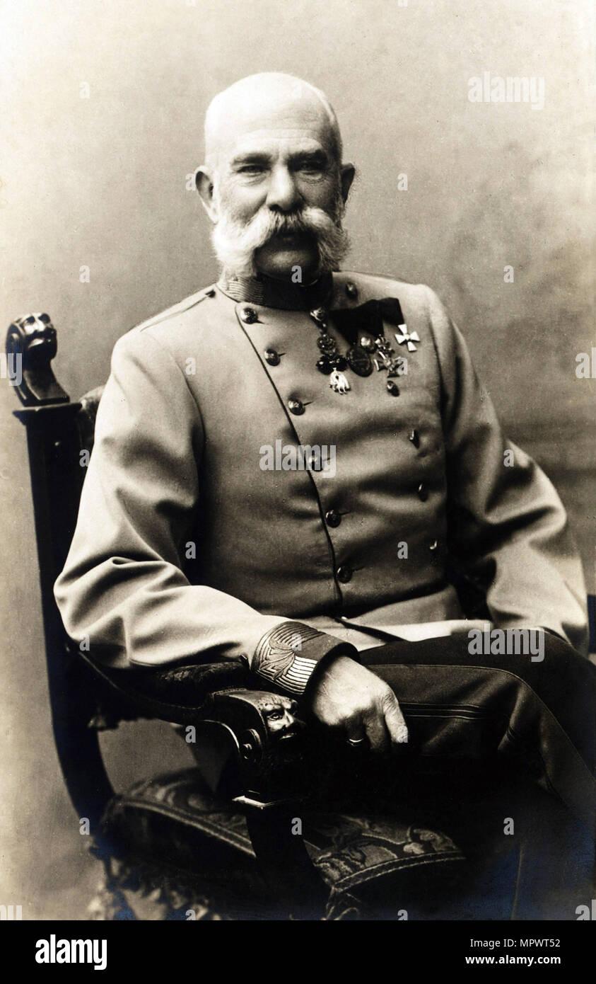 Portrait of Franz Joseph I of Austria, 1900s. - Stock Image
