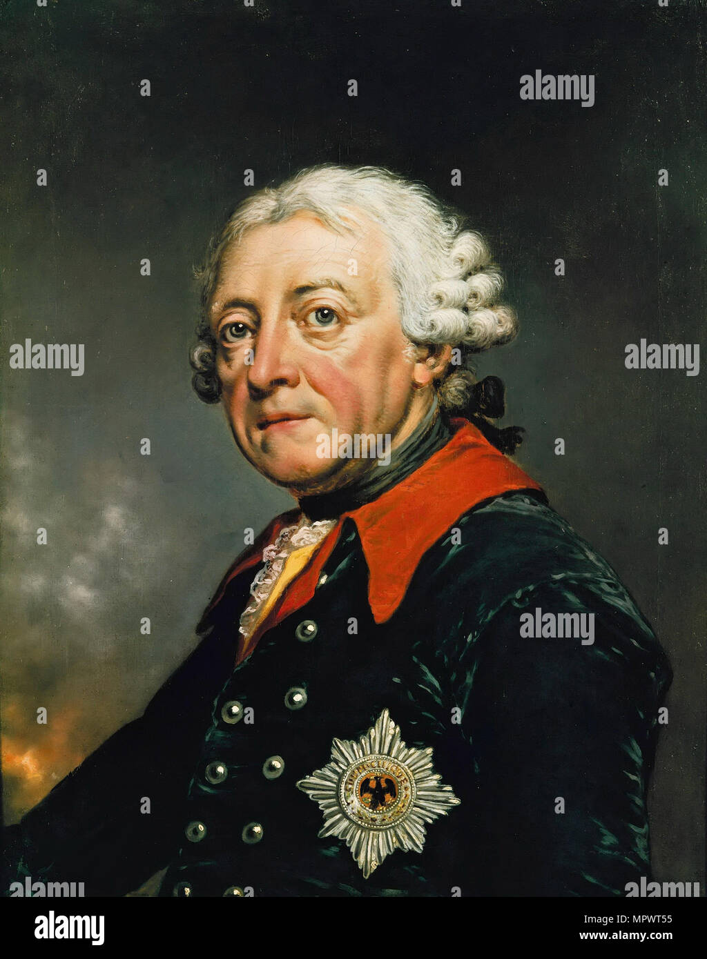 Portrait of Frederick II of Prussia (1712-1786), 1782. - Stock Image