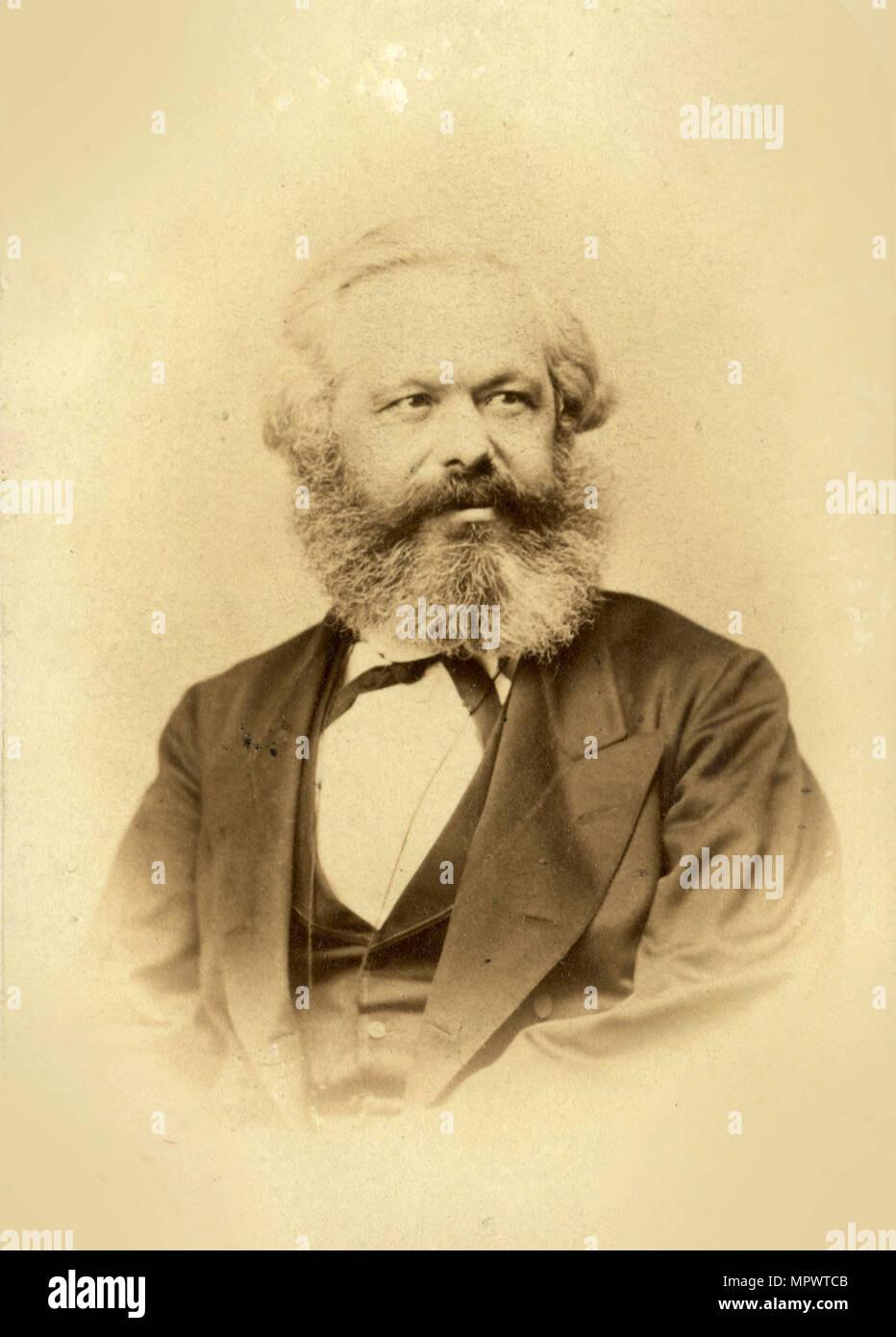 Portrait of Karl Marx (1818-1883), 1867. - Stock Image
