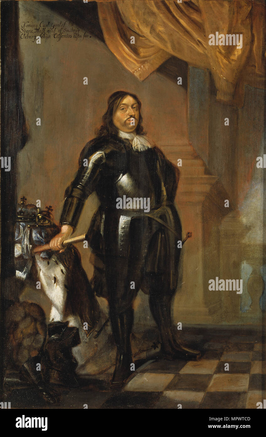 Portrait of King Charles X Gustav of Sweden (1622-1660), Mid of 17th cen.. - Stock Image