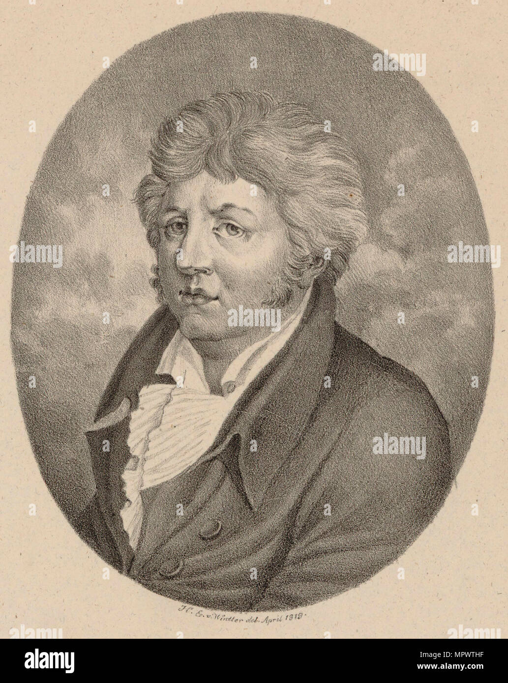 Portrait of the composer and pianist Friedrich Heinrich Himmel (1765-1814) , 1819. - Stock Image