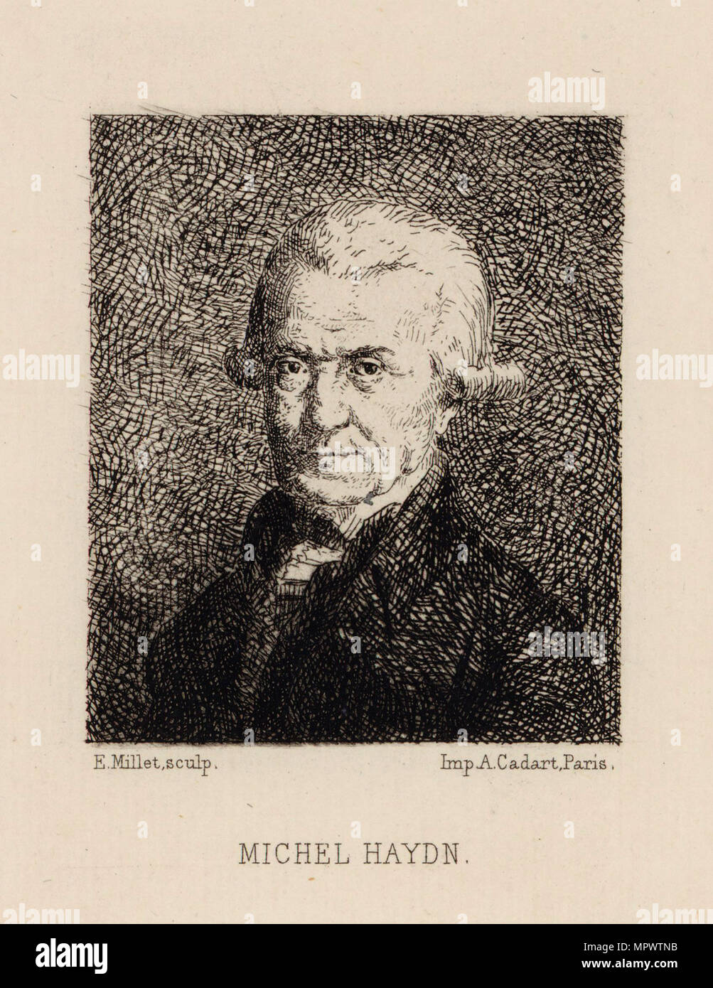 Portrait of the composer Michael Haydn (1737-1806), .