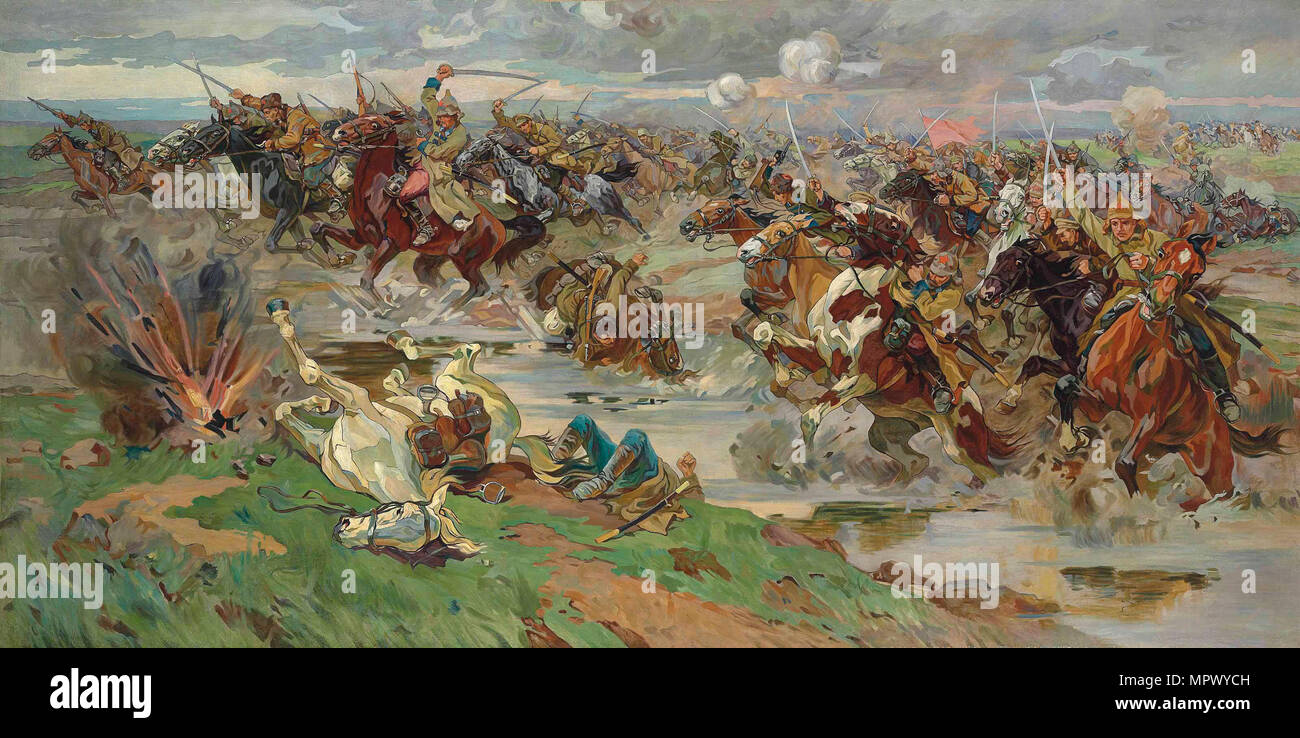 The Red Cavalry at Perekop, Early 1920s. - Stock Image