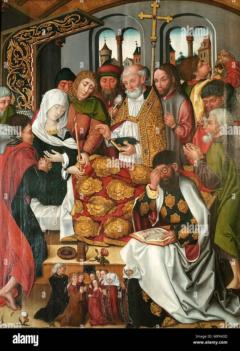 The Death of the Virgin, ca 1490-1510. - Stock Image