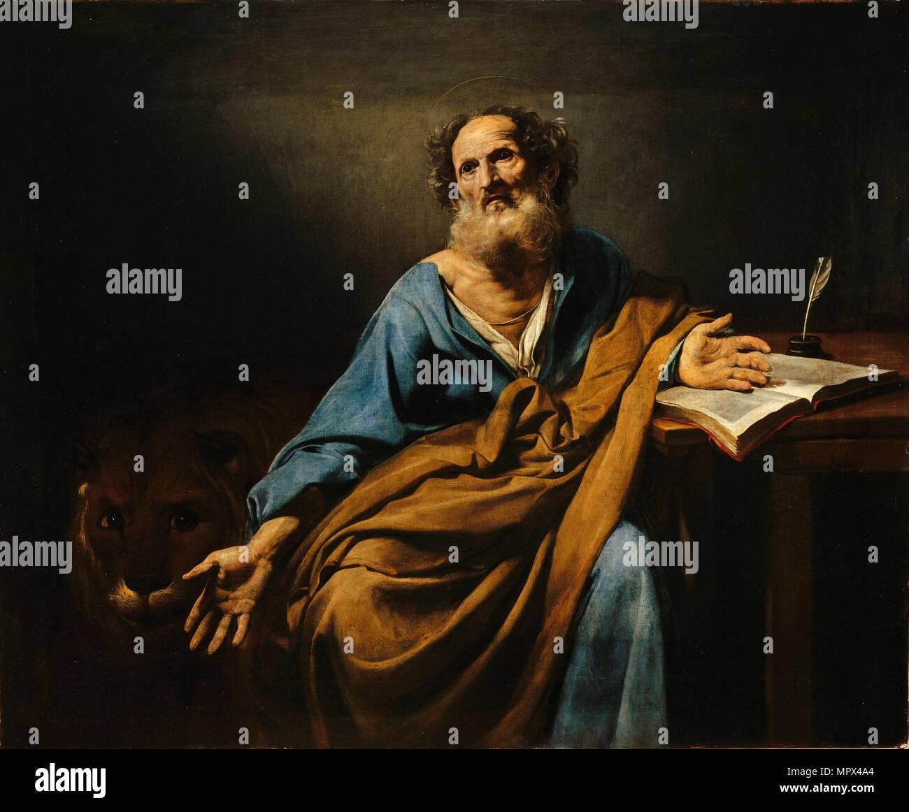 Saint Mark the Evangelist, ca 1624-1625. - Stock Image