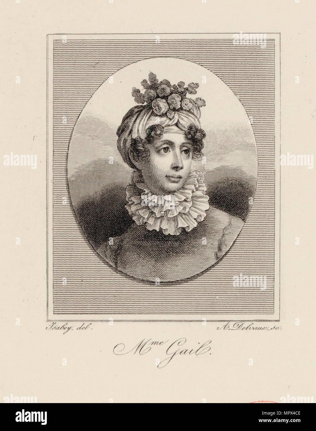 Portrait of the singer and composer Edmée Sophie Gail (1775-1819), ca 1819. Stock Photo