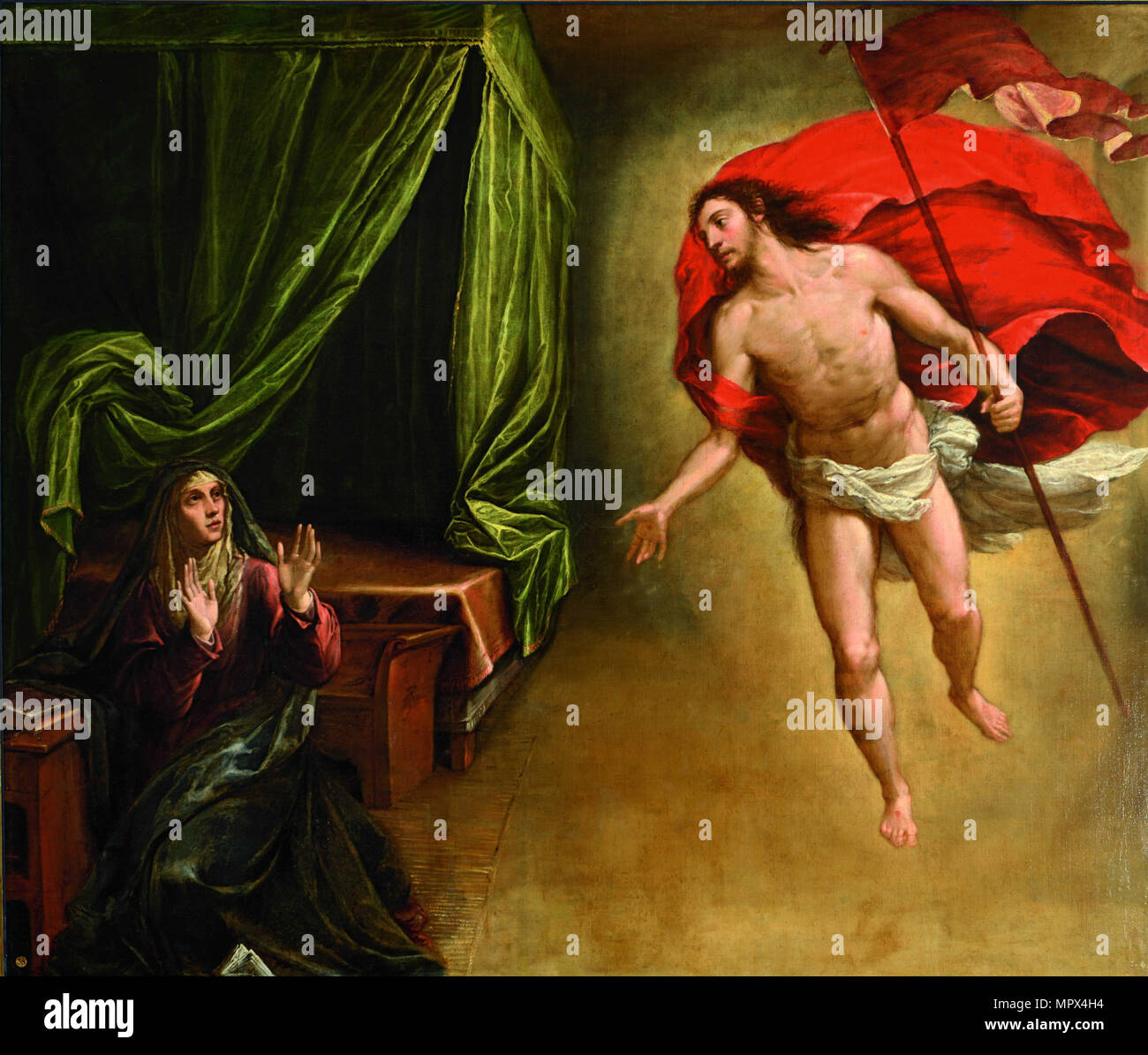 The Appearance of Christ to his Mother, 1579. - Stock Image