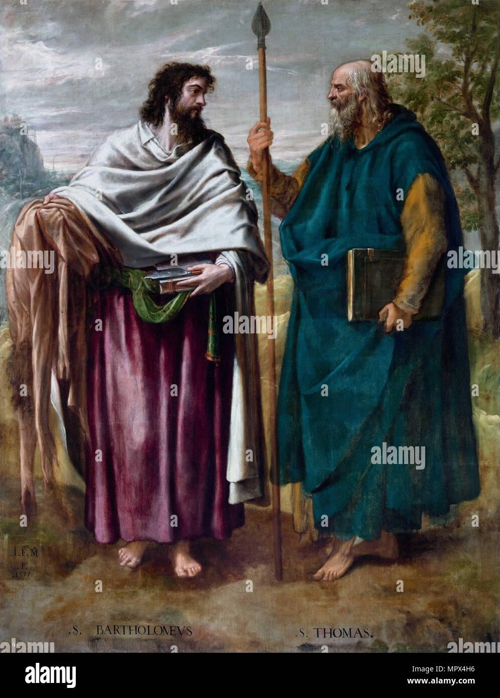 Saint Bartholomew and Saint Thomas, 1577. - Stock Image