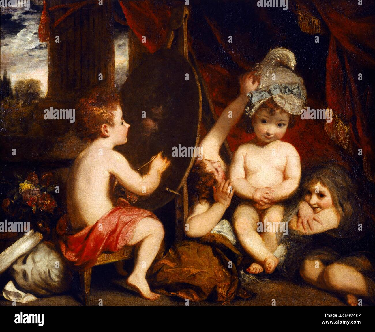 'The Infant Academy', 1781-1782. Artist: Sir Joshua Reynolds. - Stock Image