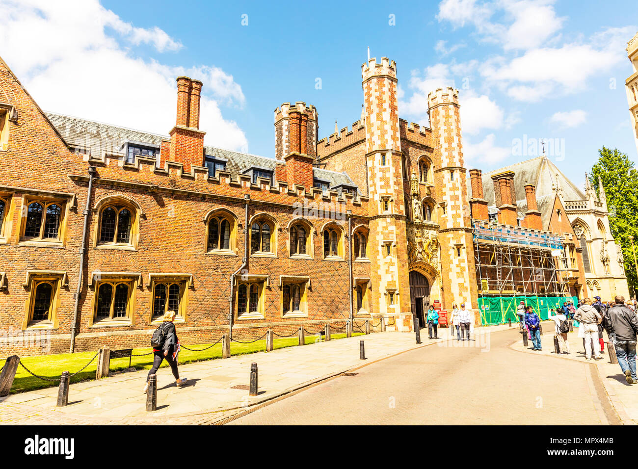 St John's College Cambridge, St John's College, Cambridge, constituent college of the University of Cambridge, Cambridge university,  colleges city, - Stock Image