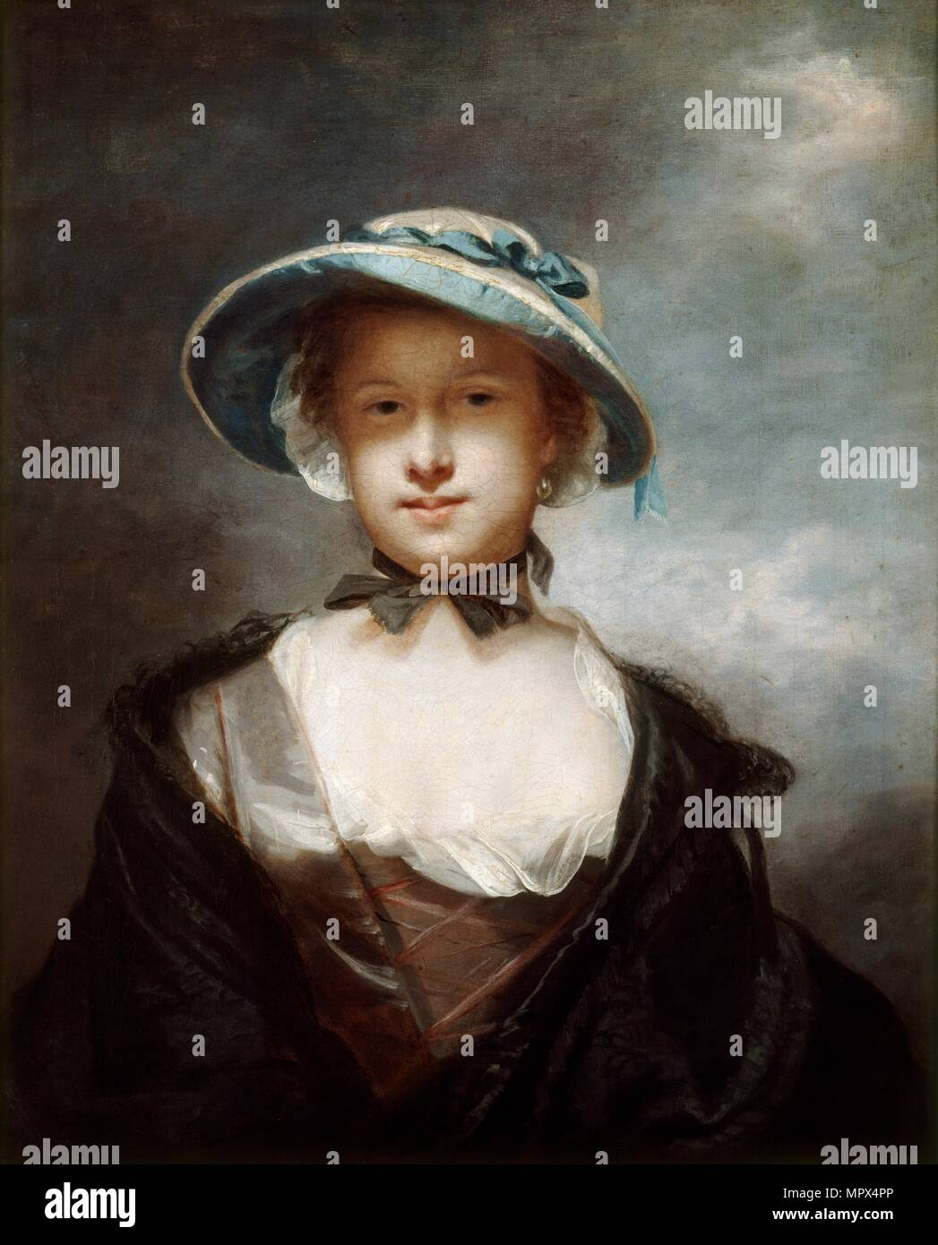 Catherine, Lady Chambers, wife of Sir William Chambers, 1752-1756. Artist: Sir Joshua Reynolds. - Stock Image