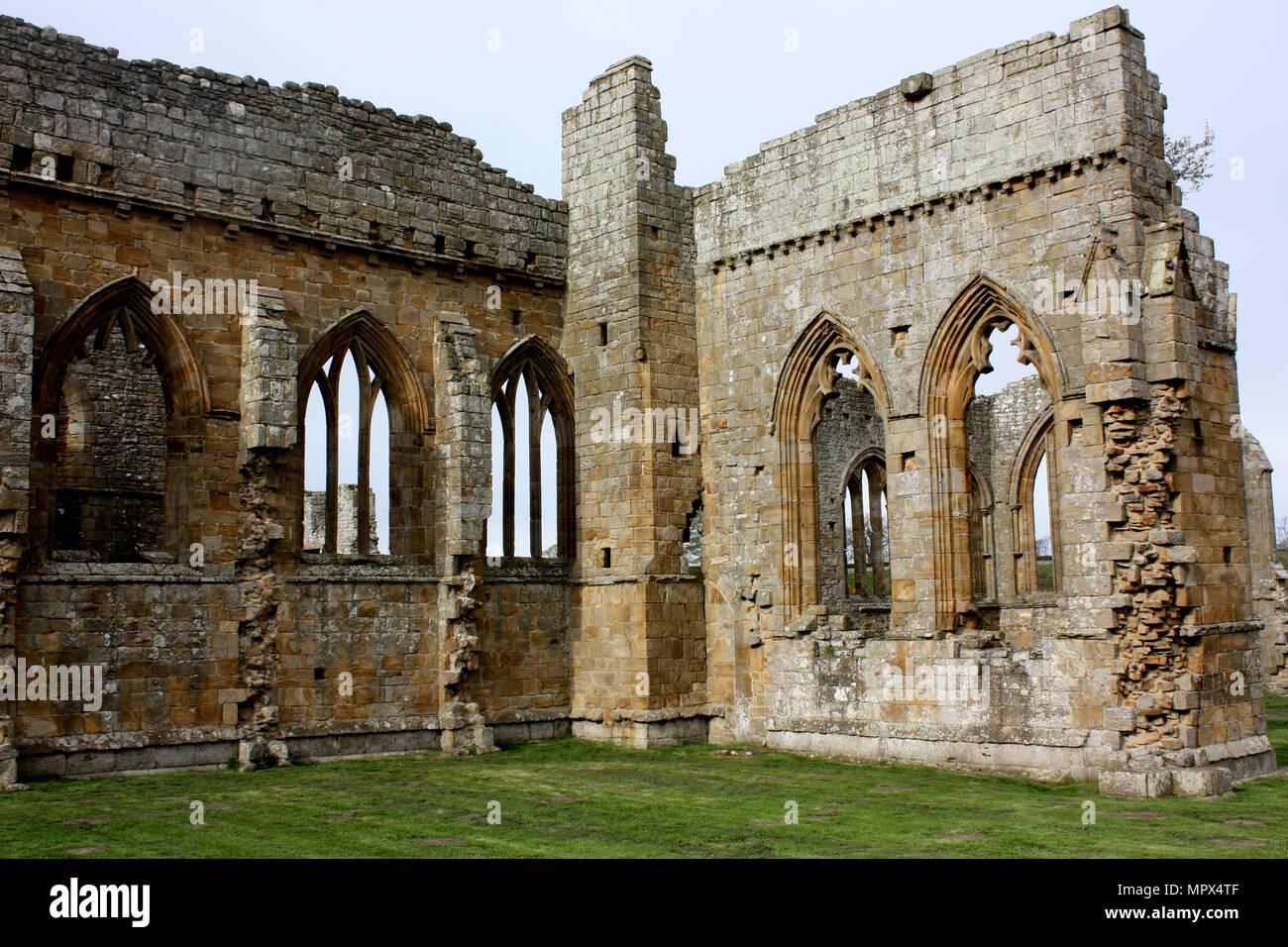 Egglestone Abbey near Barnard Castle - Stock Image