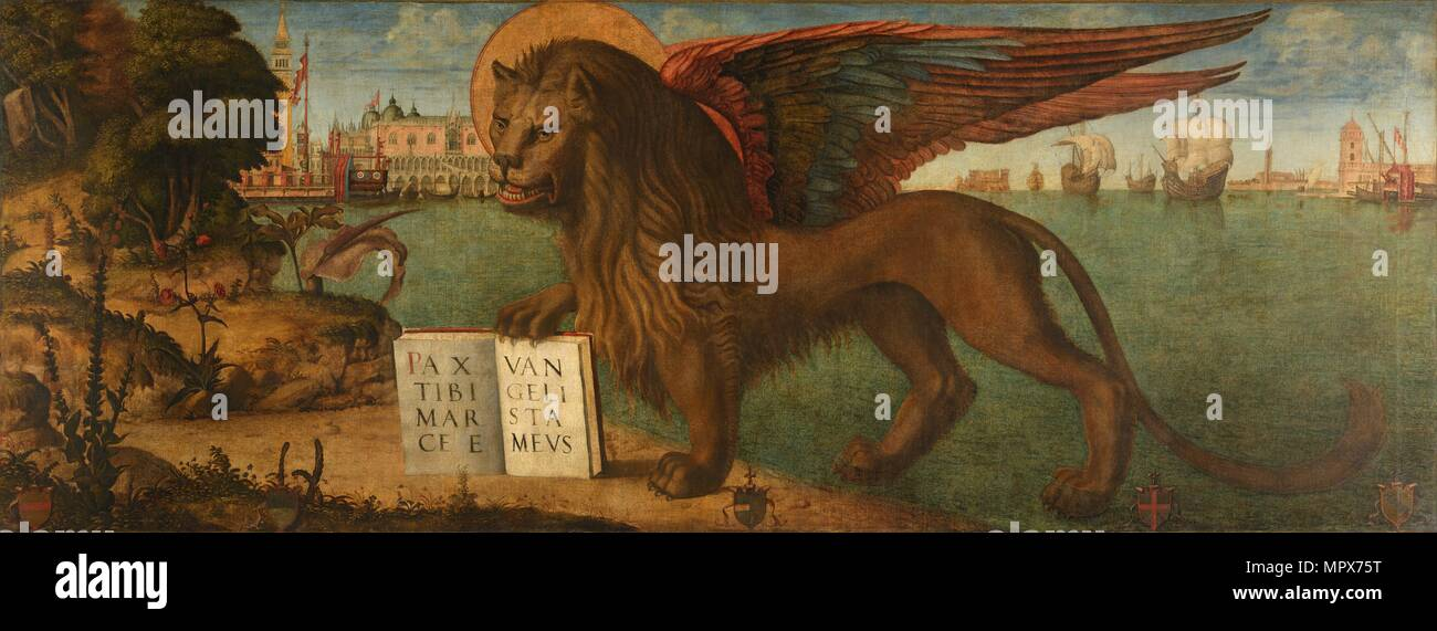 The Lion of Saint Mark, 1516. - Stock Image