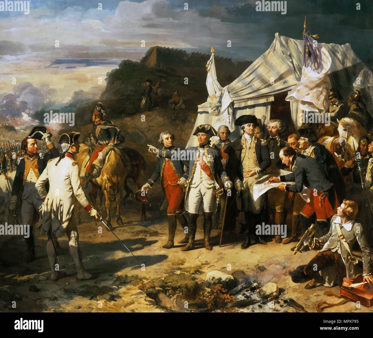 The Siege of Yorktown, October 17, 1781 , 1836. - Stock Image
