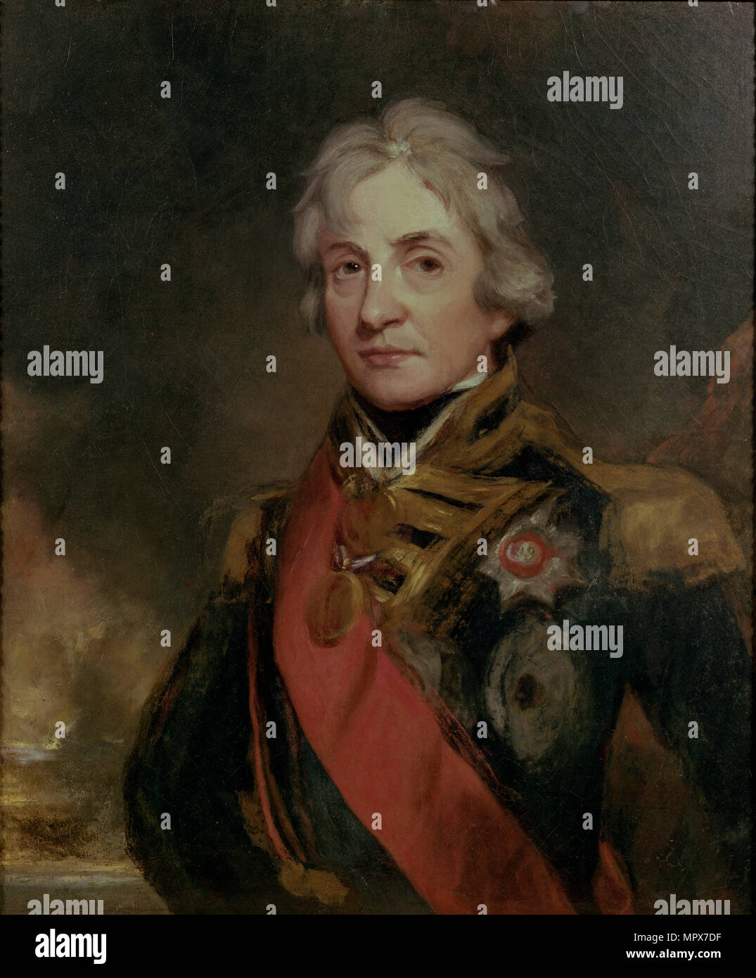 Vice-Admiral Horatio Nelson (1758-1805), 1802. - Stock Image