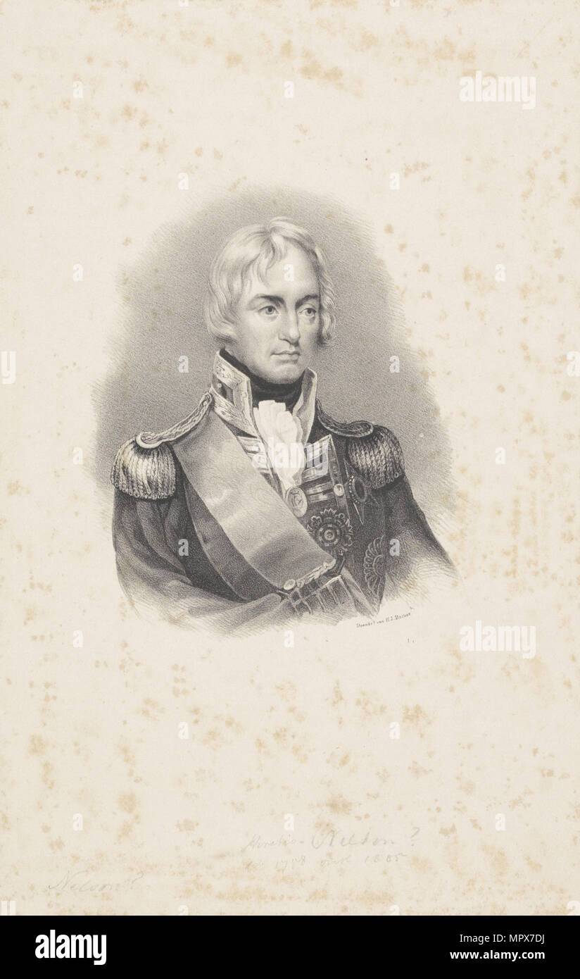 Vice-Admiral Horatio Nelson (1758-1805), 1814. - Stock Image