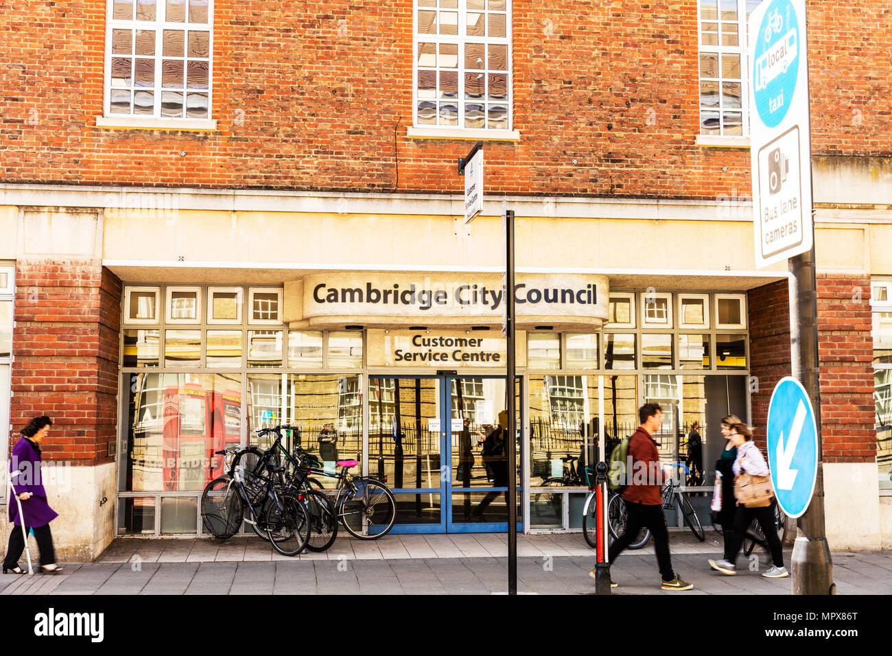 Cambridge City Council building, customer service centre, Cambridge City Council sign, Cambridge City Council UK, Cambridge, City, Council,UK England Stock Photo