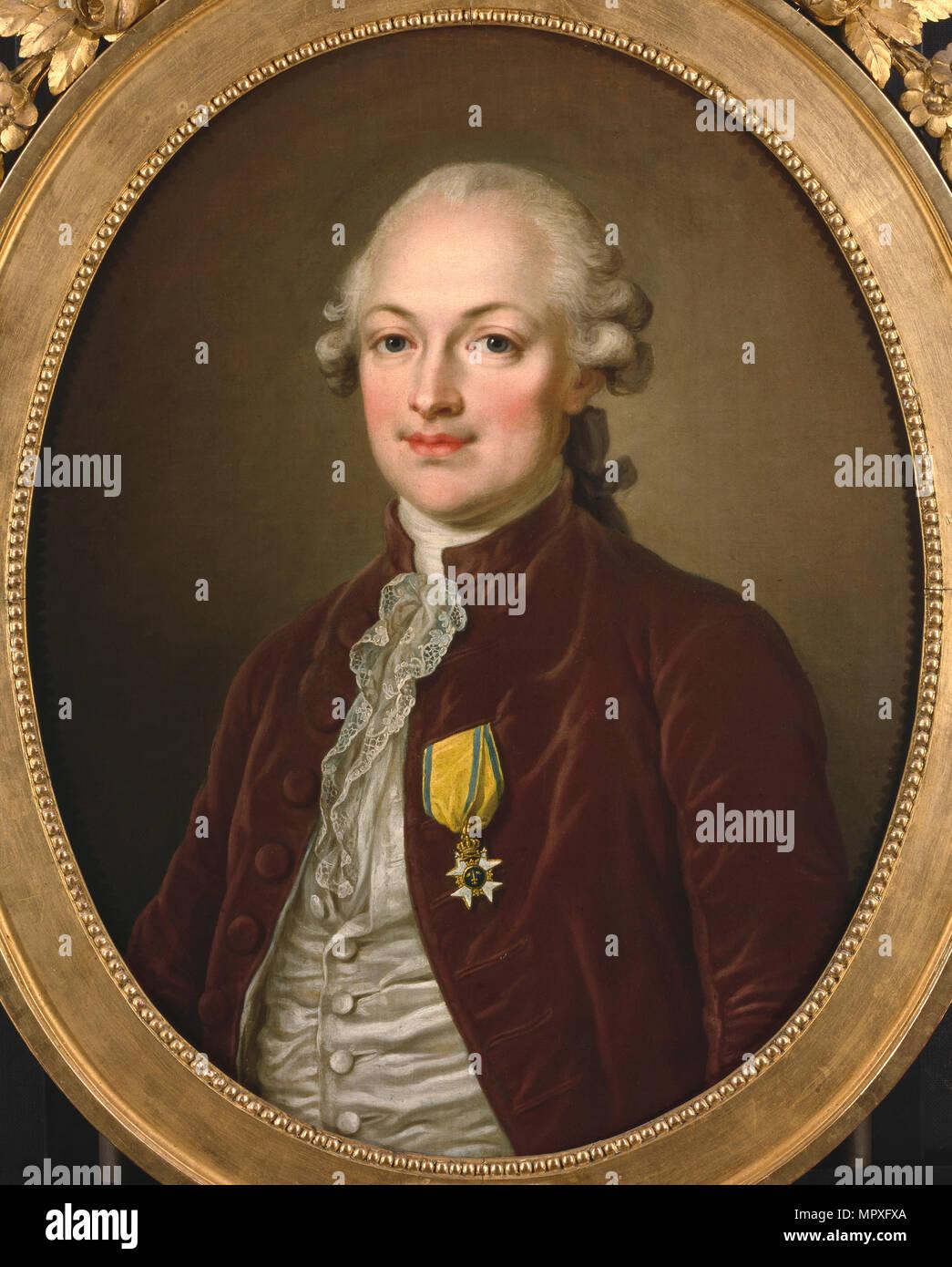 Portrait of Baron Erik Magnus Staël von Holstein (1749-1802), 1796. - Stock Image