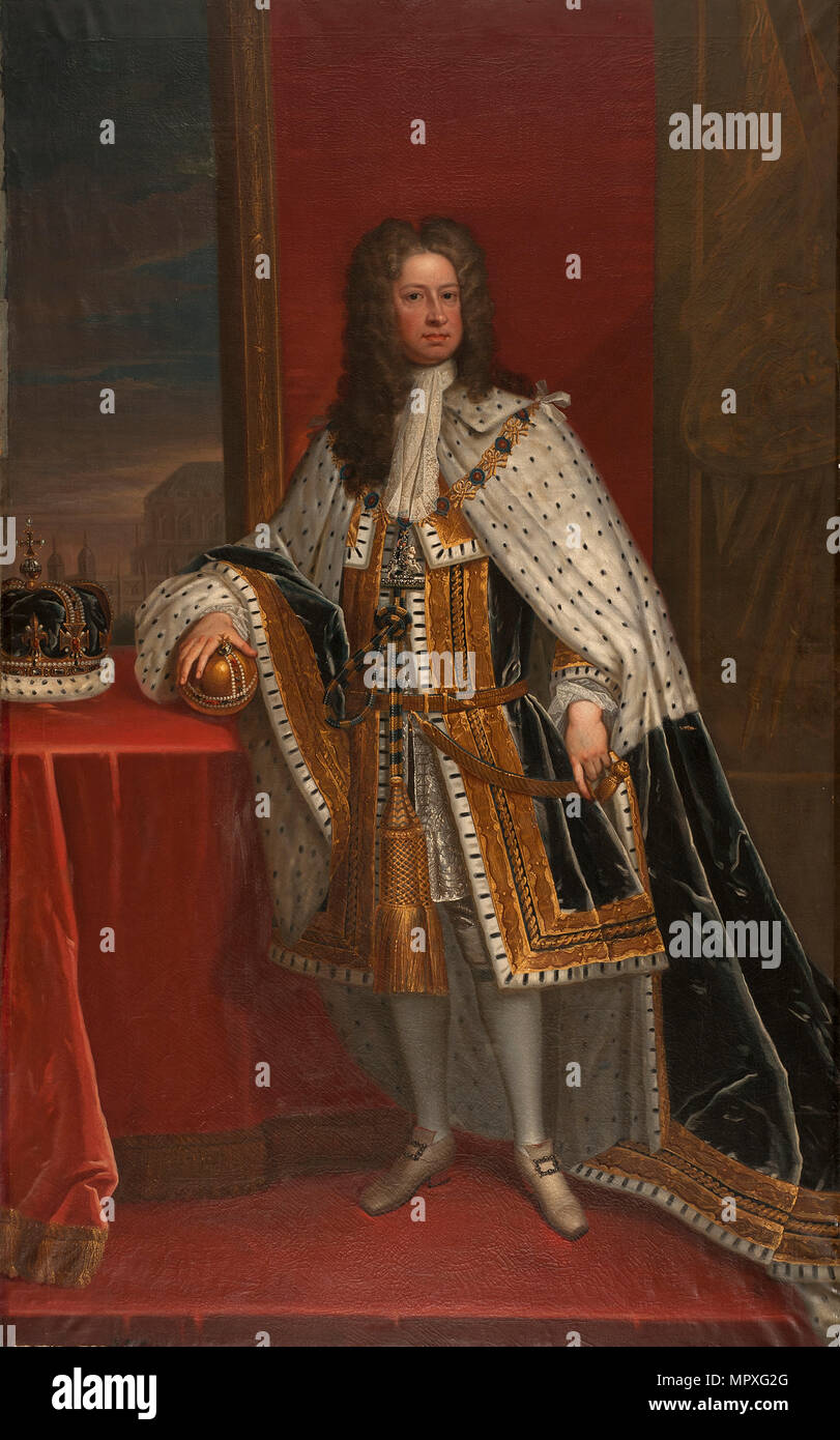 Portrait of George I of Great Britain. - Stock Image