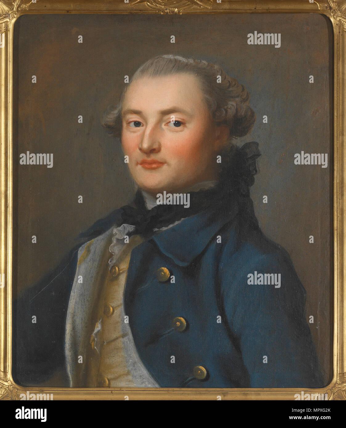 Portrait of Count Georg Magnus Sprengtporten (1740-1819), Second Half of the 18th cen.. - Stock Image