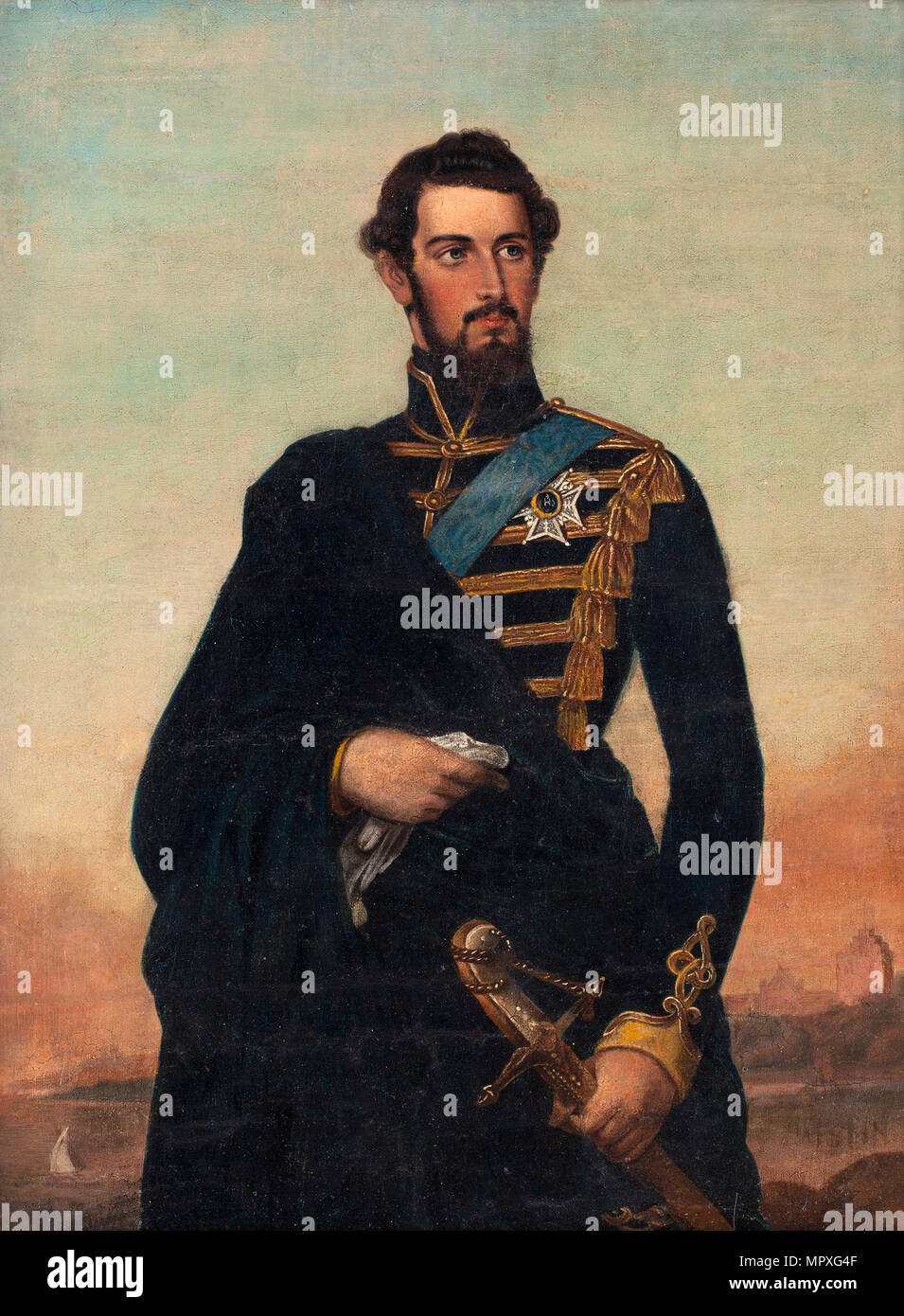 Portrait of the King Charles XV of Sweden. - Stock Image