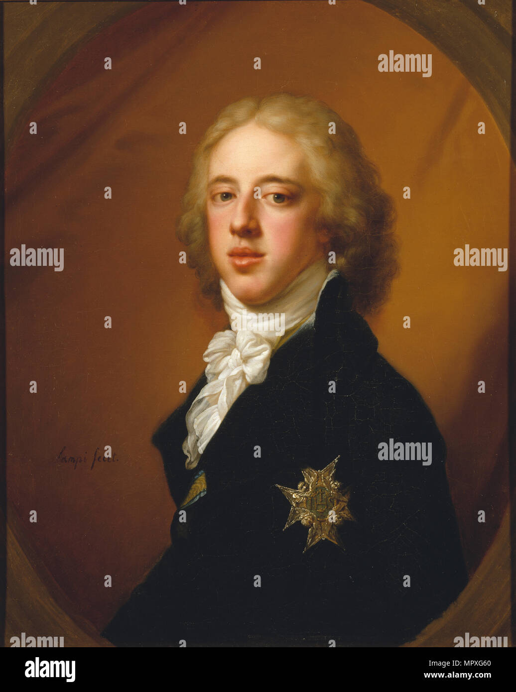 Portrait of Gustav IV Adolf of Sweden (1778-1837). Stock Photo