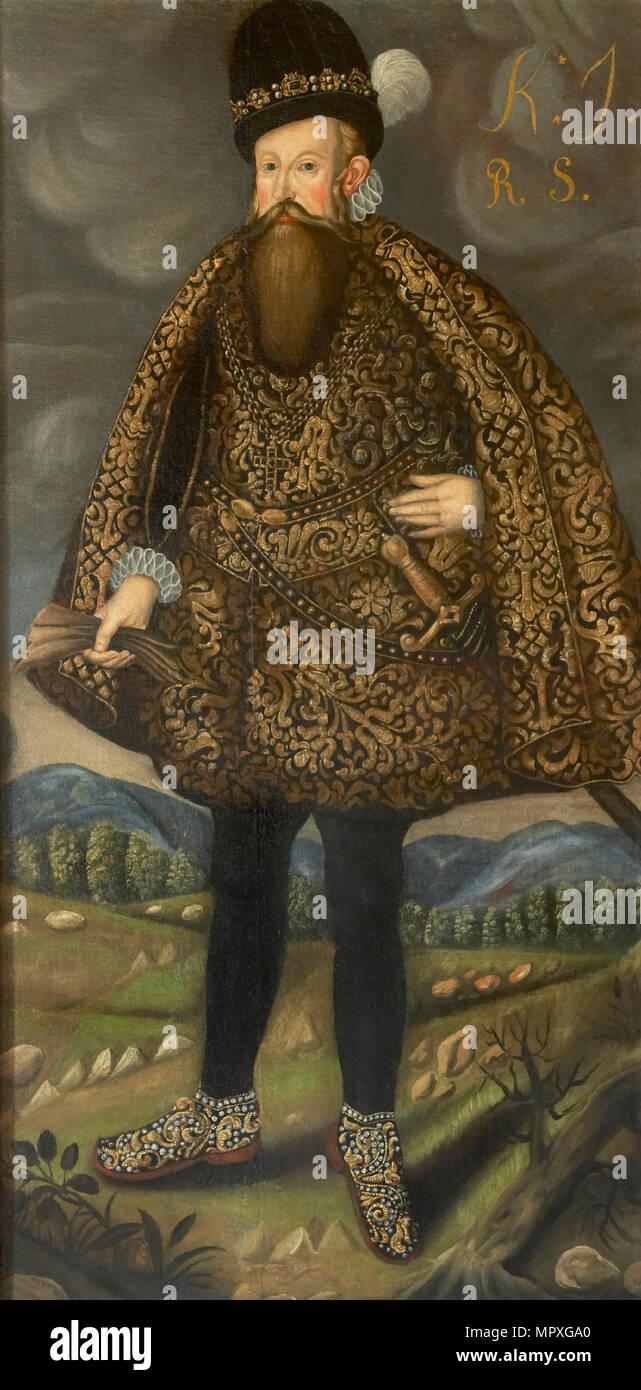 Portrait of the King John III of Sweden (1537-1592). - Stock Image
