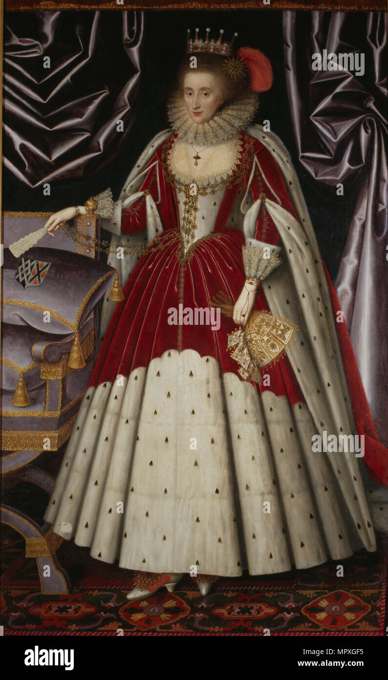 Portrait of Lucy Russell, Countess of Bedford (1580-1627), née Harington, 1600s. - Stock Image