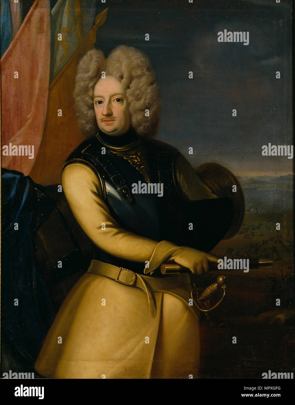 Portrait of Count Magnus Stenbock (1665-1717), 1708. - Stock Image
