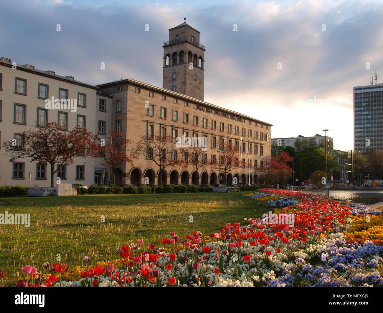 'Die Stadtmitte' cultural center in Karlsruhe, Germany - Stock Image