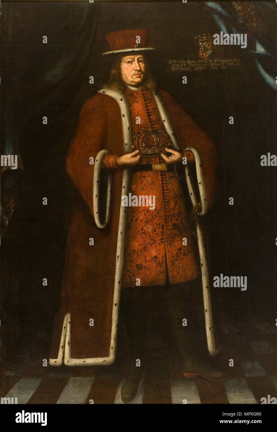 Portrait of Count Per Brahe the Younger (1602-1680), 1675. - Stock Image
