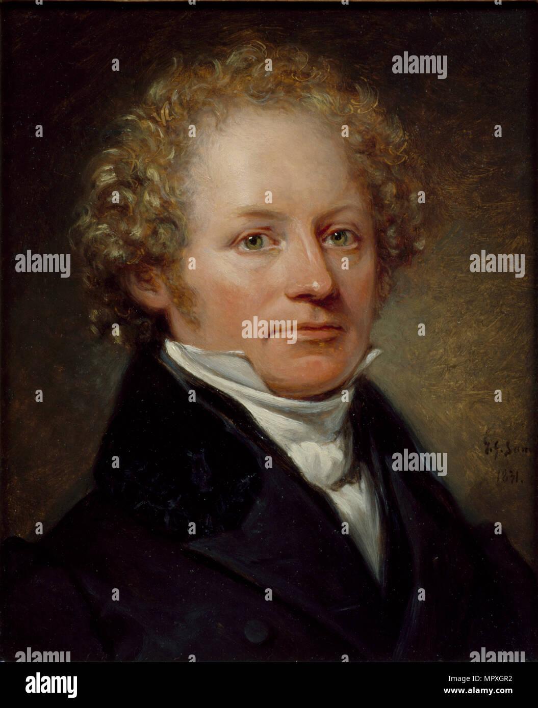 Portrait of Per Daniel Amadeus Atterbom (1790-1855), 1831. - Stock Image