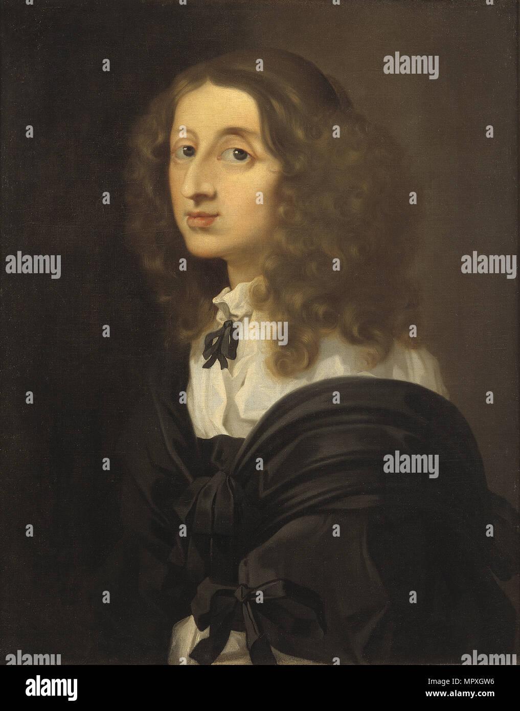Portrait of Queen Christina of Sweden (1626-1689). - Stock Image