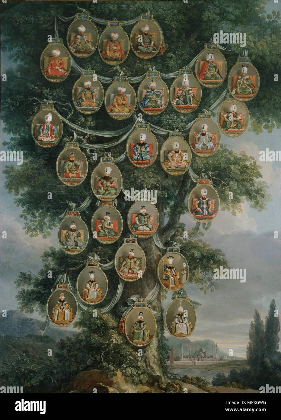 The Sultans of the Ottoman Empire. - Stock Image