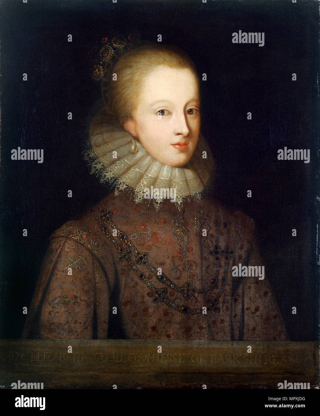 Elizabeth Cecil, Countess of Berkshire, late 17th century(?). Artist: Unknown. - Stock Image
