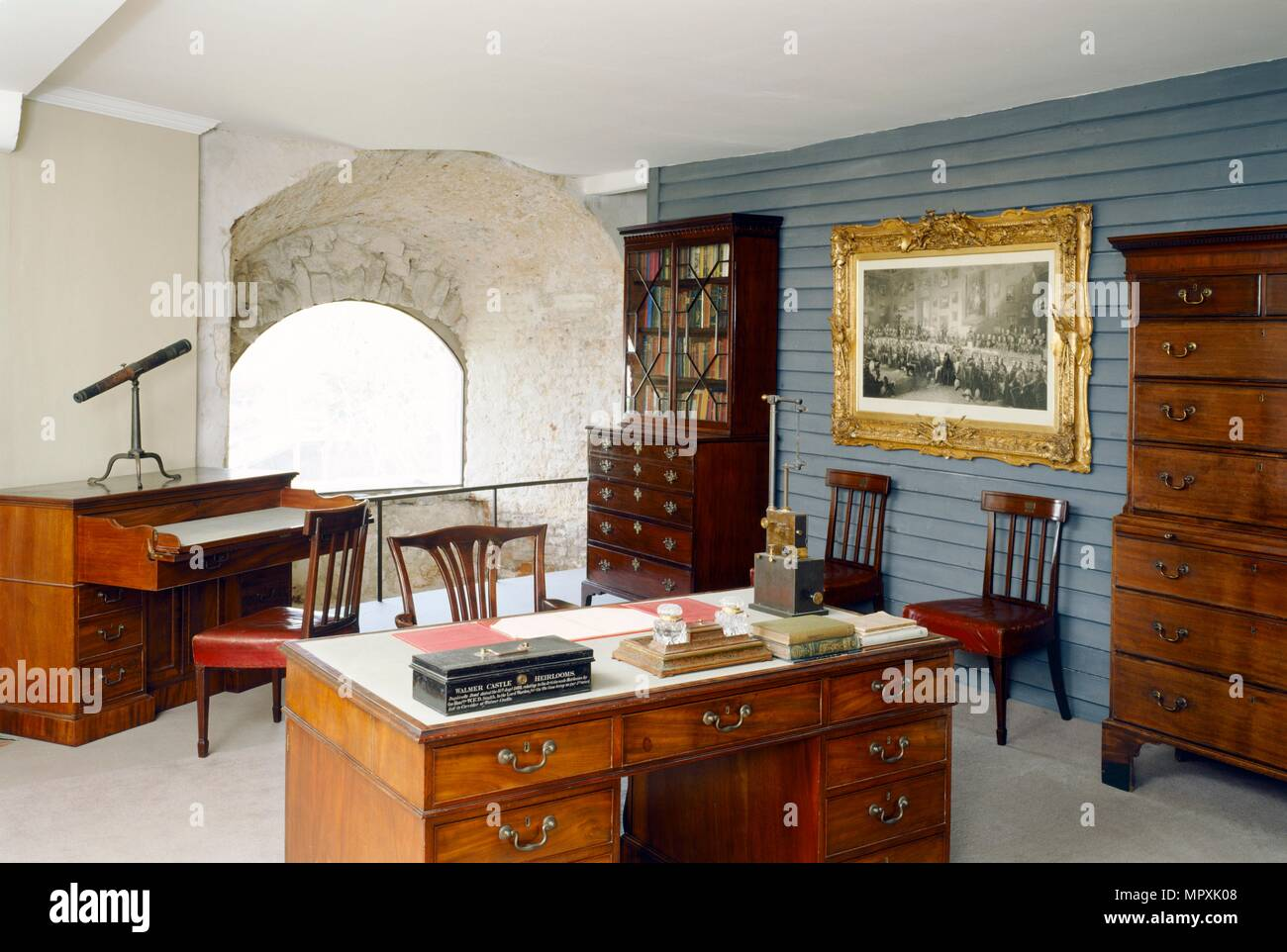 The Willingdon Room, Walmer Castle, Walmer, Kent, c2000-c2017. Artist: Jonathan Bailey. - Stock Image