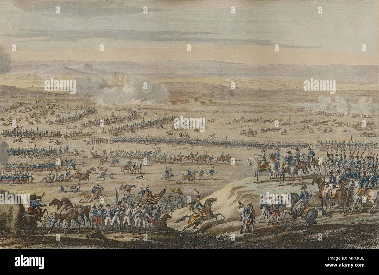 The Battle of Austerlitz on December 2, 1805. - Stock Image