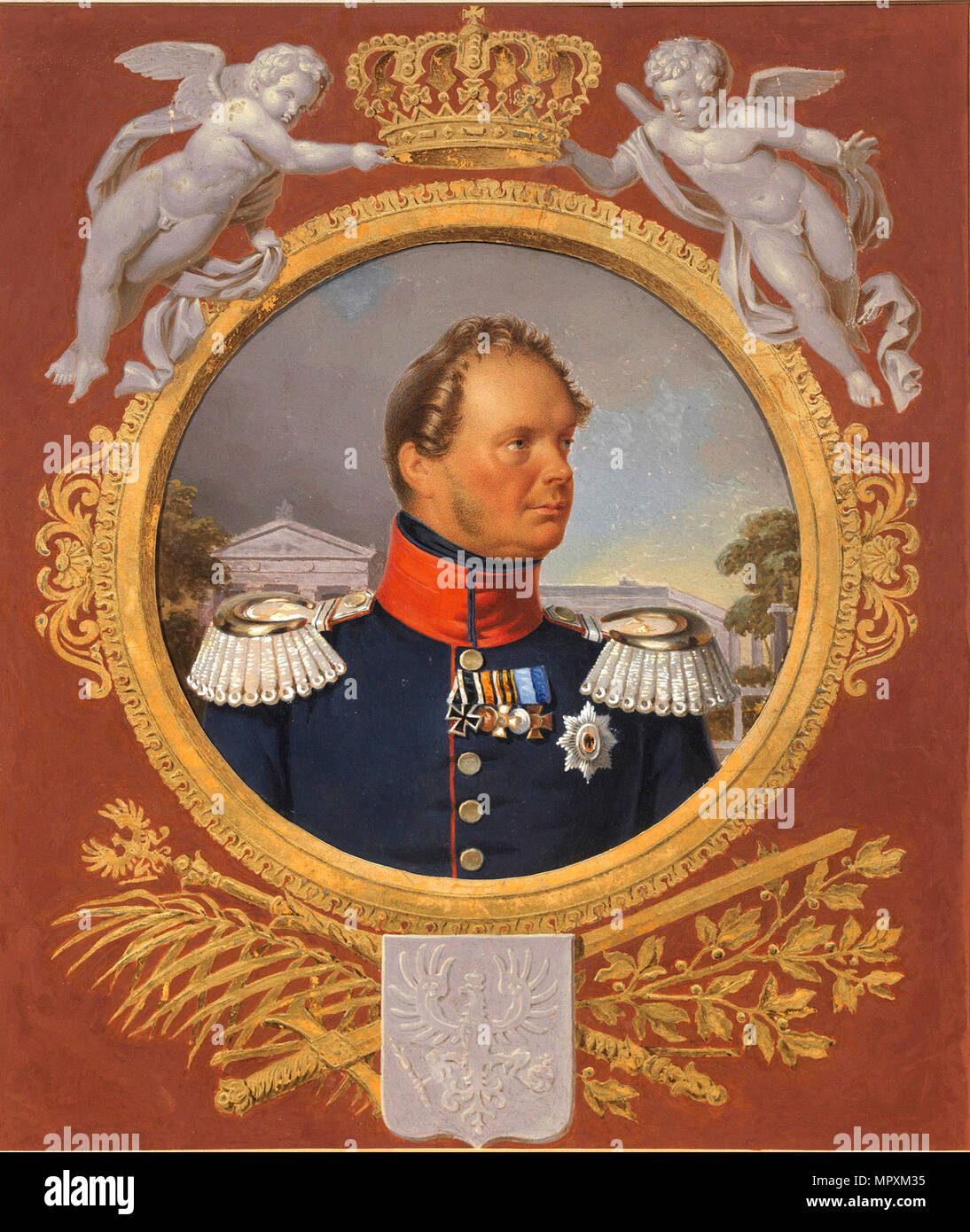 Portrait of the King Frederick William IV of Prussia (1795-1861). - Stock Image