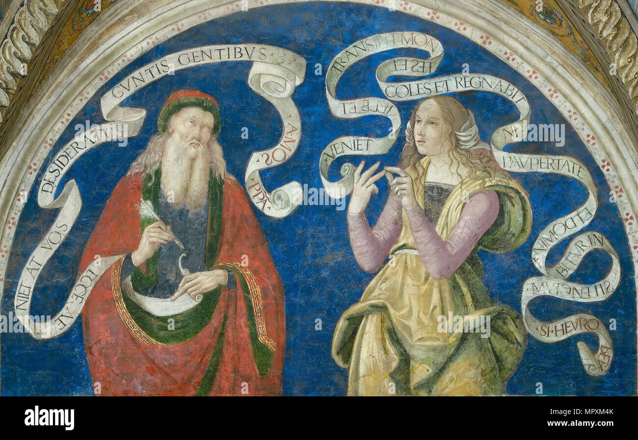 The Prophet Amos and the European Sibyl, 1492-1495. - Stock Image