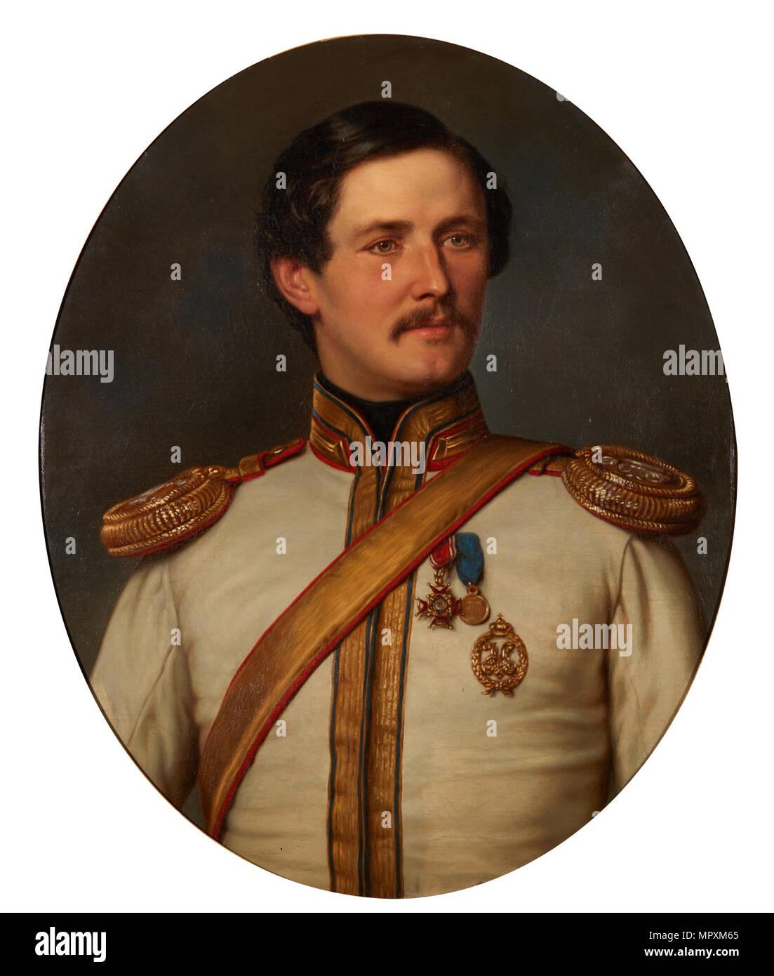 Peter Dominikus Ludwig (1831-1887), Prince of Sayn-Wittgenstein-Berleburg-Ludwigsburg, 1858. - Stock Image