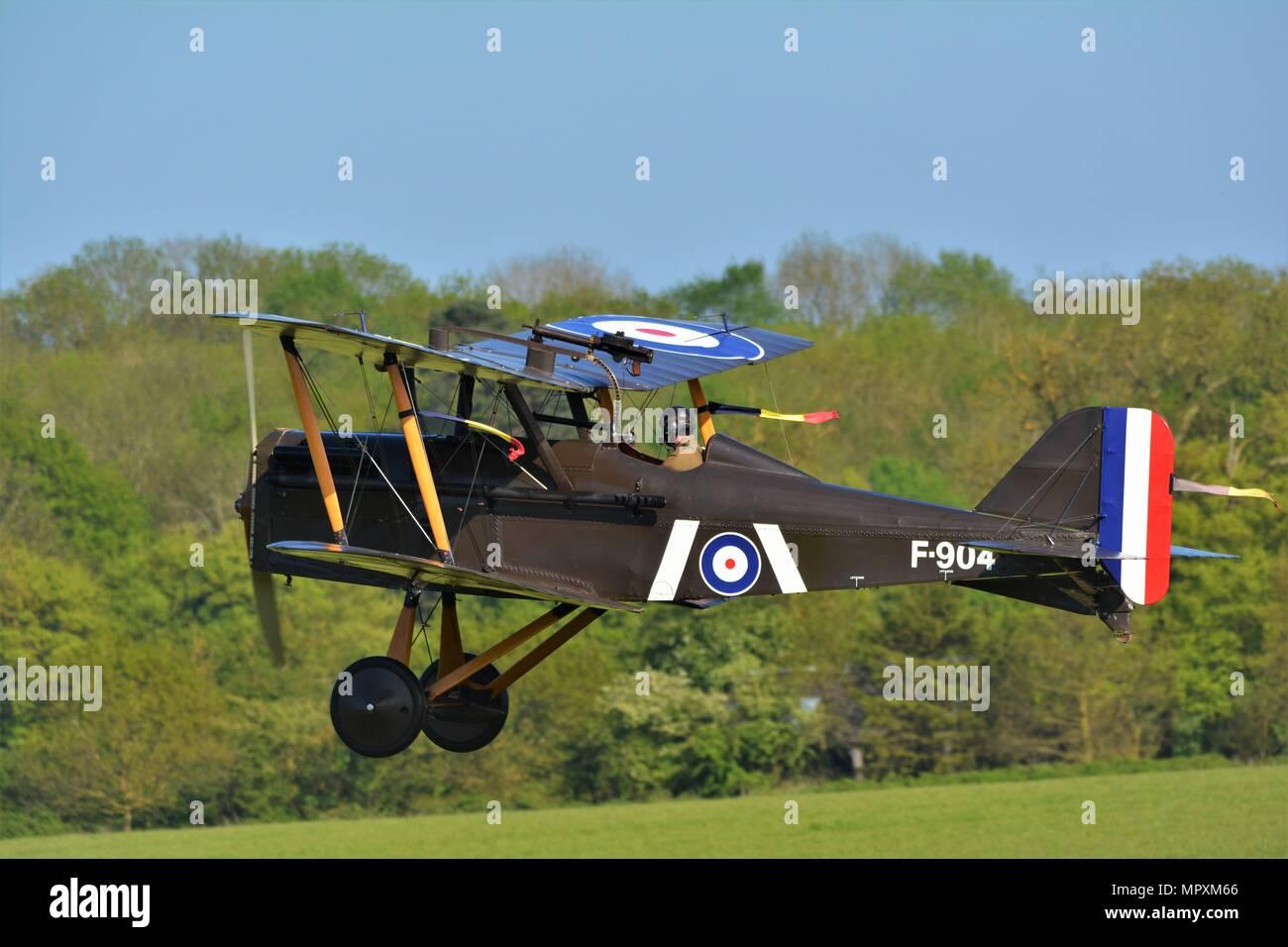 S E 5 WORLD WAR 1 BI PLANE FIGHTER - Stock Image