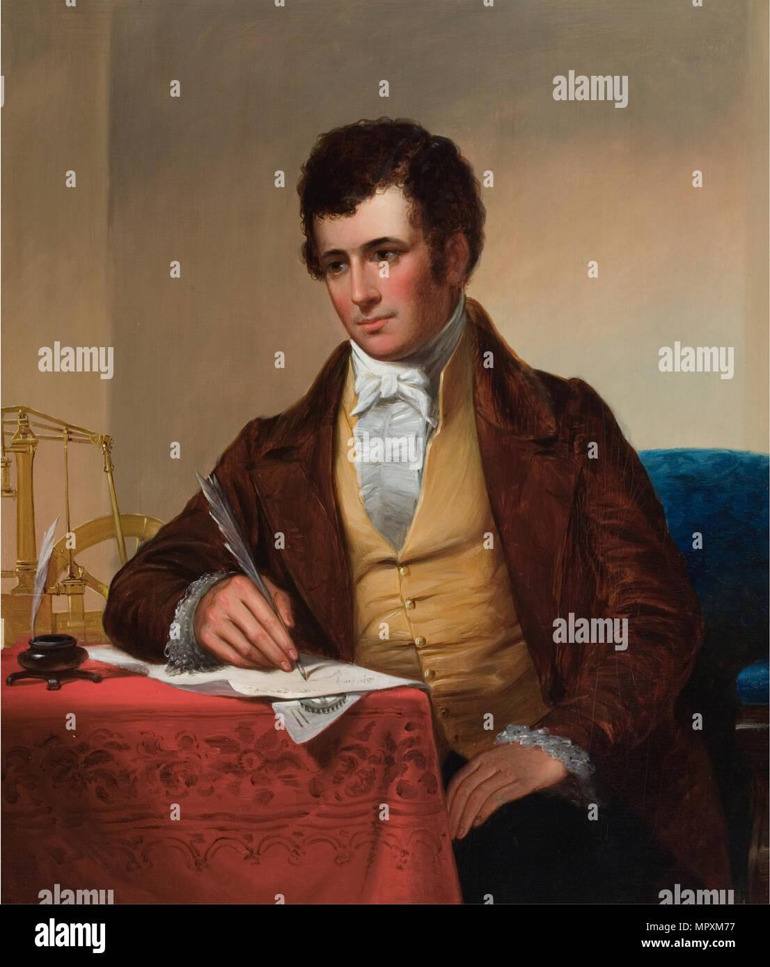 Portrait of Robert Fulton (1765-1815), 1852. - Stock Image