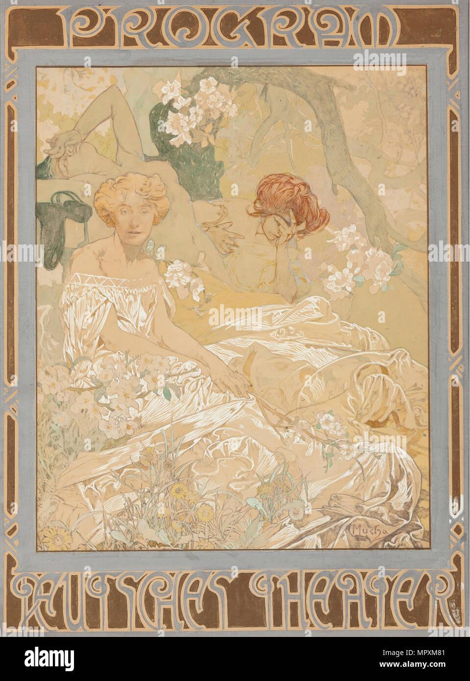 Deutsches Schauspielhaus. Theatre programme, 1908. - Stock Image